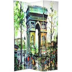 Oriental Furniture Double Sided Paris Room Divider