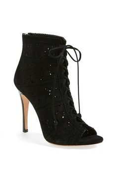 Alice + Olivia 'Gale' Lace-Up Suede Bootie (Nordstrom Exclusive) (Women) available at #Nordstrom