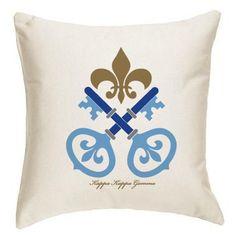 Kappa Kappa Gamma Sorority Symbol Pillow