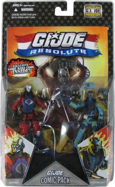 Destro vs Shockwave G.I. GI JOE 25th Anniversary Modern action figures Comic Book two pack.
