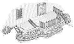 Eplans Deck Plan - Epitome of Informal Entertaining from Eplans - House Plan Code HWEPL74966