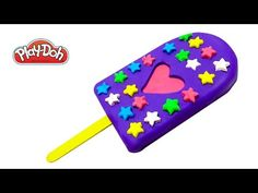 Play Doh How to Make a Popsicle Stars Popsicle Happy Rainbow DIY Play Doh, Popsicles, Playing Cards, Presents, Ice Cream, Rainbow, Stars, Happy, How To Make