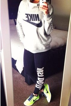 Nike comfy daily wear cozy shirt, leggings and shoes