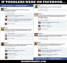 If toddlers had Facebook...