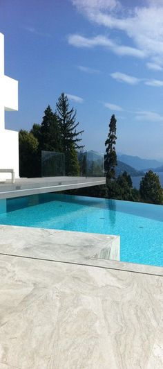 modern pool with a view