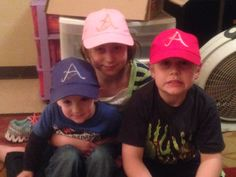 Personalized initial hats