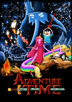 Adventure Time Cartoon TV Series 24''x34'' Poster 09 ArtPrint Cloth                                                                                                                                                     More
