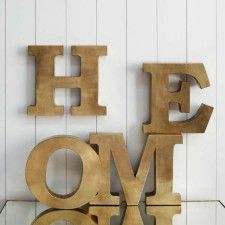 Copper 'HOME' Letters....maybe silver or gray