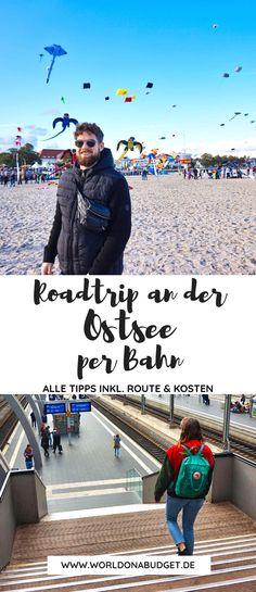 Entdecke die schönsten Orte an der Ostsee per Bus und Bahn. In unseren Reisetipps findest du die schönsten Orte sowie Tipps zum Transport mit öffentlichen Verkehrsmitteln, Routen, Kosten und Highlights an der deutschen Ostseeküste. Verbringe mit unseren Tipps einen nachhaltigen und wunderschönen Urlaub in Deutschland am Meer. Roadtrip Europa, Bus Und Bahn, Europa Tour, Highlights, Road Trip, Camping, Travel, Campsite, Viajes