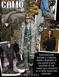 """Tradicionalmente asociado a un espíritu rebelde y desafiante, en esta ocasión el print camuflado da una """"vuelta"""" para convertirse en un estilo mucho más sofisticado."""