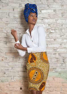 Ankara (African Print) Pencil Skirt Make a statement at work, church or just keeping it casual at any event in this great Ankara pencil skirt. *The table below can help you determine the right size to