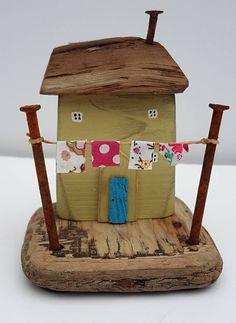 Handmade driftwood cottage driftwood miniatures.