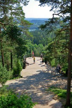 Aulangon näkötorni in Aulanko, Hämeenlinna, Finland. The loveliest nature destination!