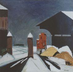 E. Besozzi pitt. s.d. (1969) Nevicata acrilico su tela cm. 50x50 arc. 882