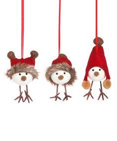 Winter Swallow Ornament - Set of Three