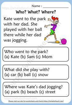 English Worksheets For Kids, English Lessons For Kids, Reading Worksheets, Learn English Words, Reading Comprehension For Kids, Reading Passages, Reading Strategies, Kindergarten Reading, Teaching Reading