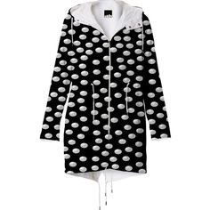 #White #Polka #Dot #Raincoat from Print All Over Me