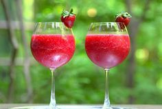 """The """"Froze"""", (frozen + Rose wine). This wine slushie couldn't be more appealing—or Instagram-friendly."""