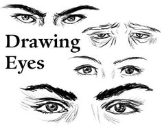 portrait Drawing Tutorial - How to draw - Drawing different kinds of Eyes Plus tons of tutorials on drawing landscapes, animals, Manga, Cartoons, still-life etc
