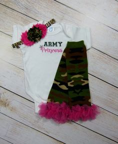 Hey, I found this really awesome Etsy listing at https://www.etsy.com/listing/178977865/army-princess-camo-baby-girl-outfit-leg