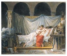 Mallet, Jean-Baptiste, (1759-1835), Helen and Paris, Watercolour