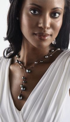 Black Tahitian Pearls have such  an exotic feel. Take me to Bora Bora!