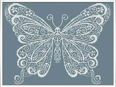 Check out Butterfly and more exclusive items at Robin's Nest Designs now. Cross stitch chart by Alessandra Adelaide Needleworks Butterfly Cross Stitch, Cross Stitch Heart, Cross Stitch Animals, Cross Stitch Kits, Counted Cross Stitch Patterns, Cross Stitch Designs, Cross Stitch Embroidery, Embroidery Patterns, Butterfly Embroidery