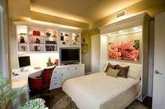 combined bedroom office designs - Google Search