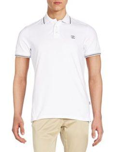 JUST CAVALLI Embroidered Logo Polo Shirt. #justcavalli #cloth #shirt