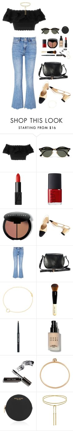 """""""Untitled #104"""" by jessica-camarero ❤ liked on Polyvore featuring Alexander McQueen, Ray-Ban, NARS Cosmetics, Bobbi Brown Cosmetics, Chanel, M.i.h Jeans, Maria Black, Dolce&Gabbana, Sarah & Sebastian and Henri Bendel"""