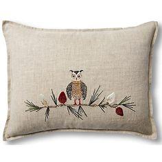 Exclusive Owl Christmas 12x16 Pillow