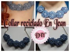 DIY COLLAR CON JEAN RECICLADO LINDO FACIL