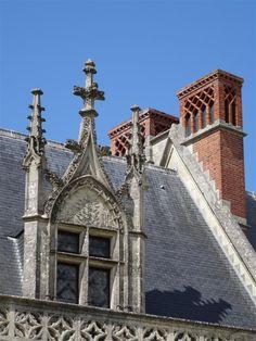 lucarne gothique du château d'Amboise (Charles VIII )