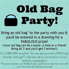Old Bag Party idea - this is cute, don't know what I'd do this for, but it made me laugh