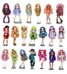 Barbie Doll Set, Barbie Dress, Elven Woman, Loving Family Dollhouse, Kawaii Disney, Girl Drawing Sketches, Cute Little Drawings, Monster High Custom, Rainbow Fashion