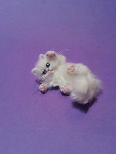 OOAK Realistic persian Cat  1:12 Dollhouse Handmade by ewelina
