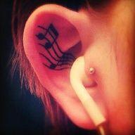 #music #tattoo #ink #inked #tattooed #musicnote