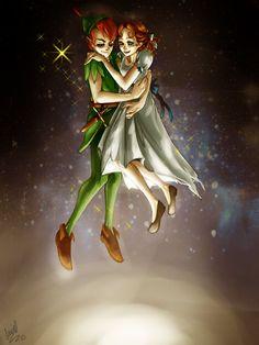 Wendy Peter Pan, Peter Pan 1953, Peter Pans, Peter Pan And Tinkerbell, Peter Pan Disney, Dark Disney, Disney Art, Peter Pan Cartoon, Disney Wishes