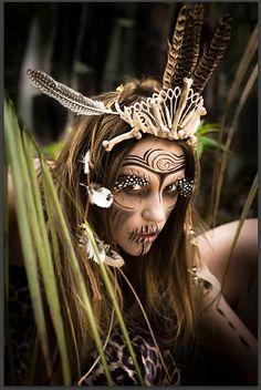 Voodoo queen headdress by PendulousThreadsUK on Etsy
