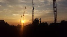 Daniel Walker was one of many to take the West Hampstead Square cranes at sunset