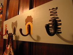 Painted Hooks -- turn animal rumps and tails