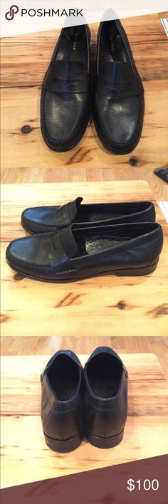 Cole Haan Penny loafer This traditional penny loafer is a staple in any women's wardrobe. Complete with leather insoles and rubber sole this shoe is incredibly comfortable. Never been worn (too big on me 😢). Cole Haan Shoes Flats & Loafers