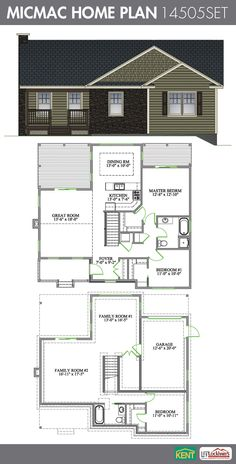 Micmac 3 Bedroom 2 Bathroom Home Plan Features Great Room With Cathedral