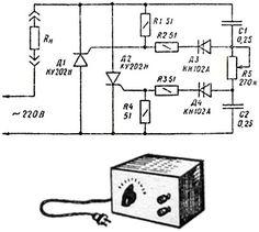 простая схема тиристора ку202н - Практическая схемотехника.
