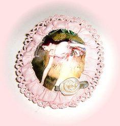 Broche de tela Bailarina rosa de Degas-18,50€