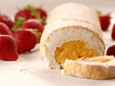Brazo de Mercedes. definitely will make! Fluffy Meringue and yummy custard filling. Was my favorite dessert for the longest time when I was a little kid!