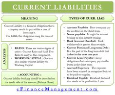 Current Liabilities - Meaning, Types, Accounting etc Accounting Basics, Accounting Student, Accounting And Finance, Accounting Classes, Bullet Journal For Business, Teaching Economics, Economics Lessons, Health Education, Physical Education