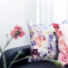 Vivid Violets cushion sarahblythe.com