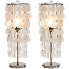 Allora Table Lamp (Set of 2)  adds little mermaid to the party... would pop and dazzle in darker colors of a room.