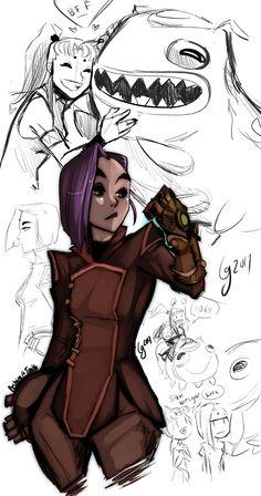 #Raven #Starfire Artist: https://www.instagram.com/sketchyceshira/
